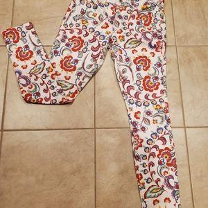 Anthropologie Floral Pilcro Jeans